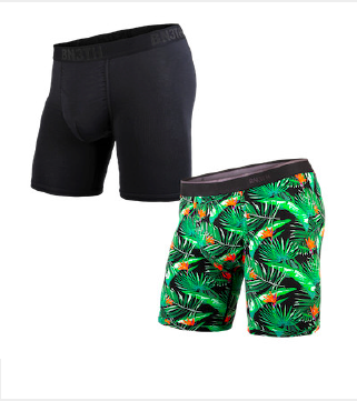 BN3TH Classic Boxer Brief - 'Paradise Bali & Black' (2 PACK)