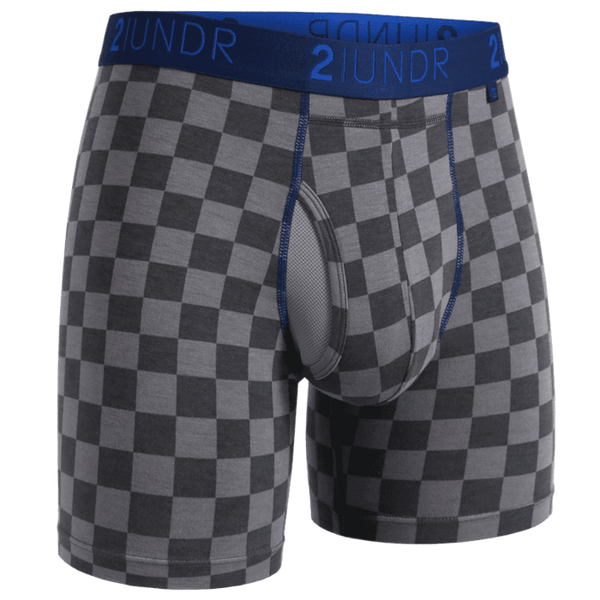"Swing Shift 6"" Boxer Brief - Check Mate"