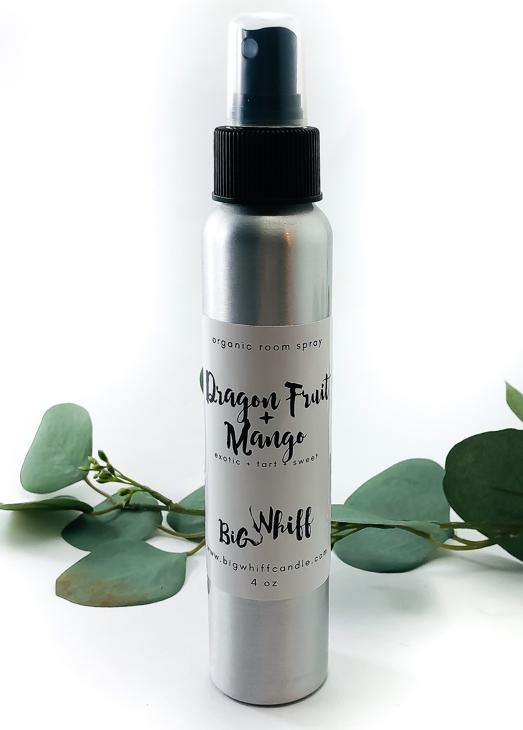 Organic Room Spray - Dragon Fruit + Mango - Deodorizer, Fabric Spray, Heavy Duty Air Freshener, Organic Vegan Natural, Botanical Collection - Big Whiff Candle Co.