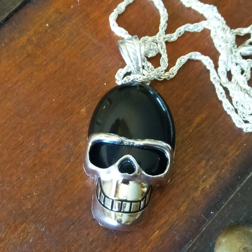 Black Skull Necklace spelled