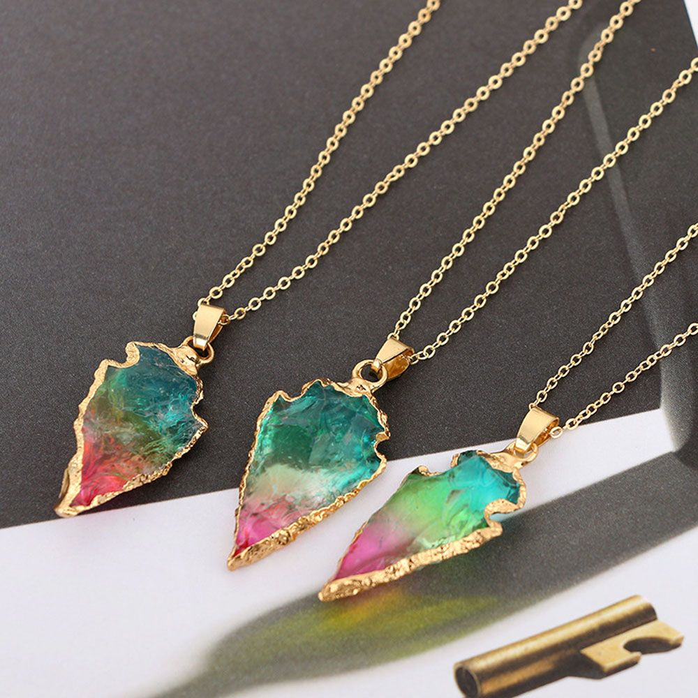 Quartz Arrowhead Multicolor and Gold