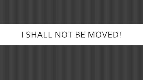 I Shall Not Be Moved (CD)