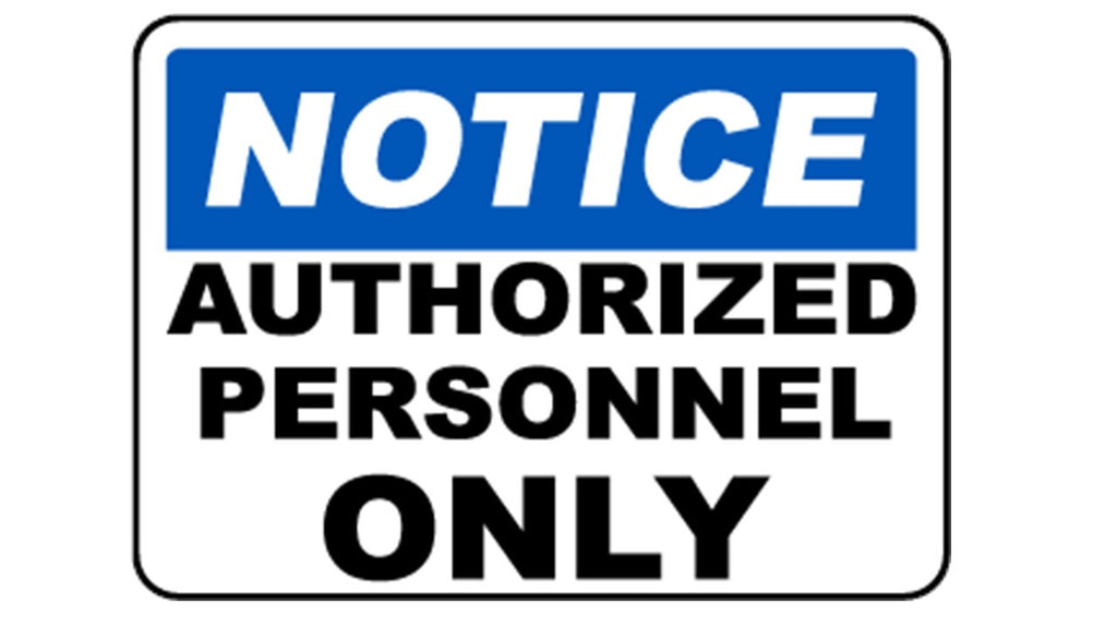 Authorize Personnel Only