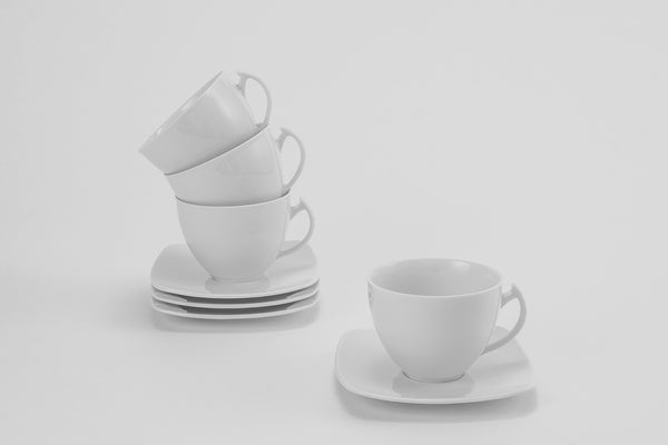 Set of 4 Cups & Saucers | Akcent - Diamond Fine Porcelain