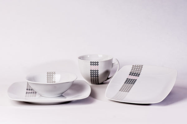 16-Piece Dinner Set | Akcent - Diamond Fine Porcelain