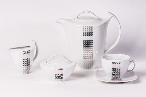 11-Piece Coffee Set | Akcent - Diamond Fine Porcelain