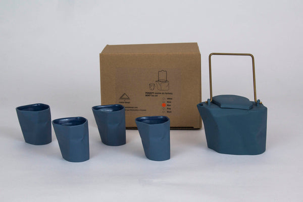 5-Piece Bent Tea Set | Blue