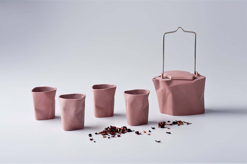 5-Piece Bent Tea Set | Rose