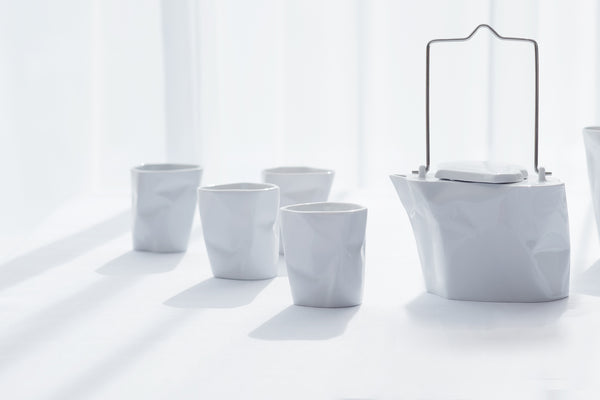 5-Piece Bent Tea Set | White