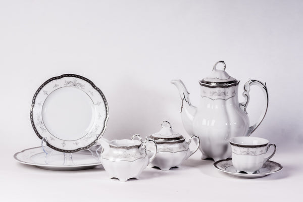 23-Piece Coffee & Dinner Set | Bolero - Diamond Fine Porcelain