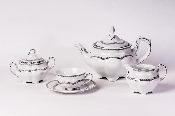 11-Piece Tea Set | Bolero - Diamond Fine Porcelain - 1
