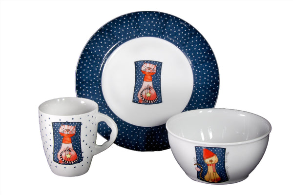 3-Piece Children's Porcelain Set
