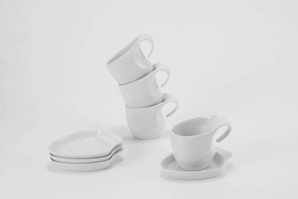 Set of 4 Cups & Saucers | Future - Diamond Fine Porcelain