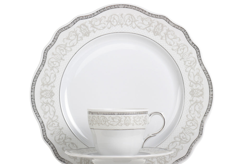 22-Piece Tea & Dinner Set | Gloria - Diamond Fine Porcelain - 2