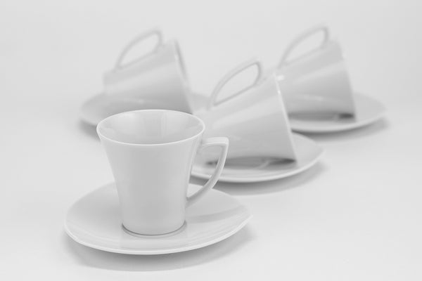 Set of 4 Cups & Saucers | Happa - Diamond Fine Porcelain