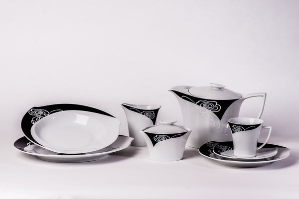 23-Piece Tea & Dinner Set | Happa - Diamond Fine Porcelain - 1