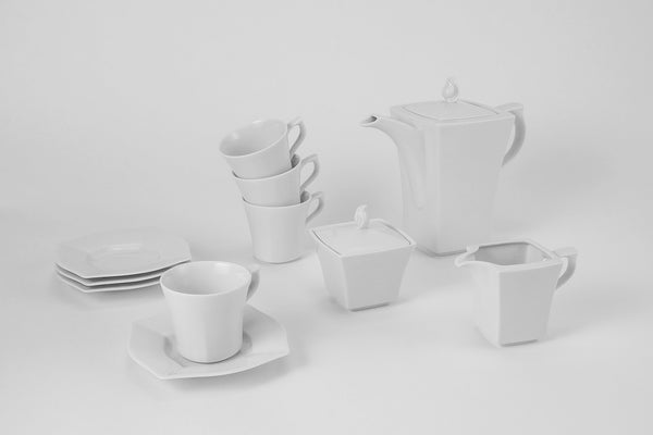 11-Piece Coffee Set | Lwow - Diamond Fine Porcelain