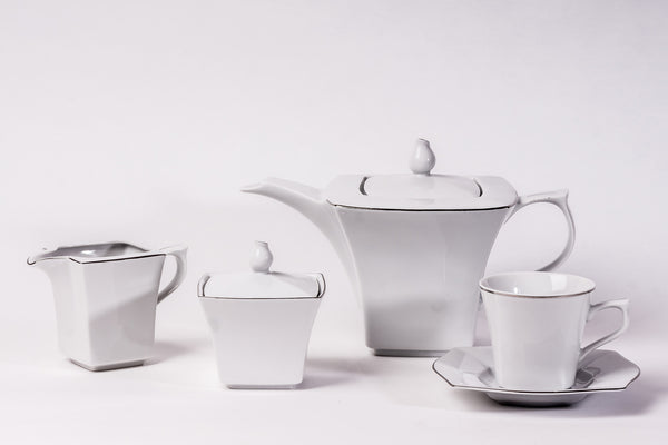 11-Piece Tea Set | Lwow - Diamond Fine Porcelain