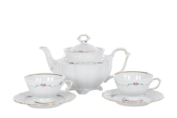 5-Piece Tea Set | Maria Teresa - Diamond Fine Porcelain - 1