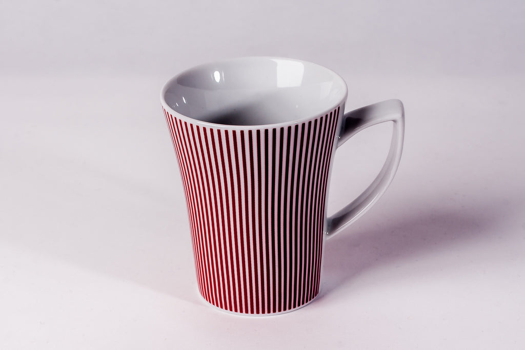 Mug 300ml Red Stripes - Diamond Fine Porcelain - 1