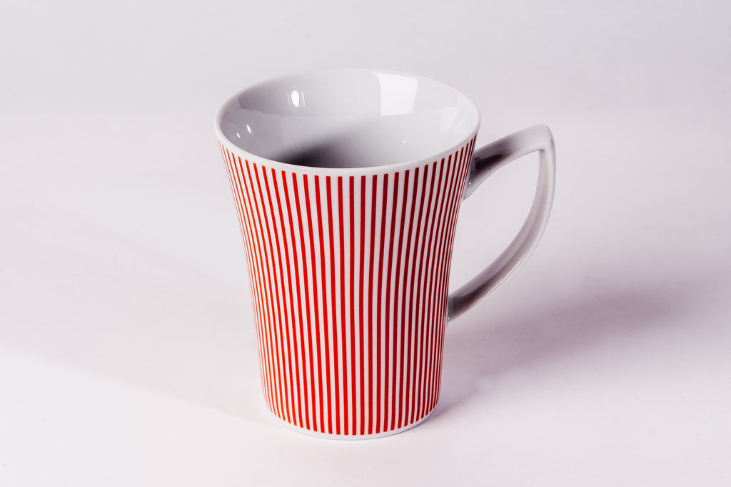 Mug 300ml Orange Stripes - Diamond Fine Porcelain - 1