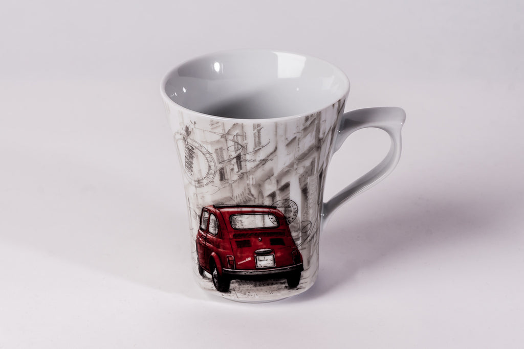 Mug 300ml Red Fiat - Diamond Fine Porcelain - 1