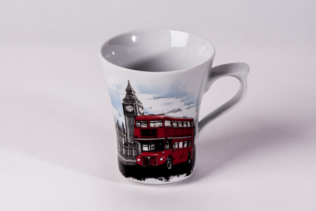 Mug 300ml London Bus - Diamond Fine Porcelain - 1