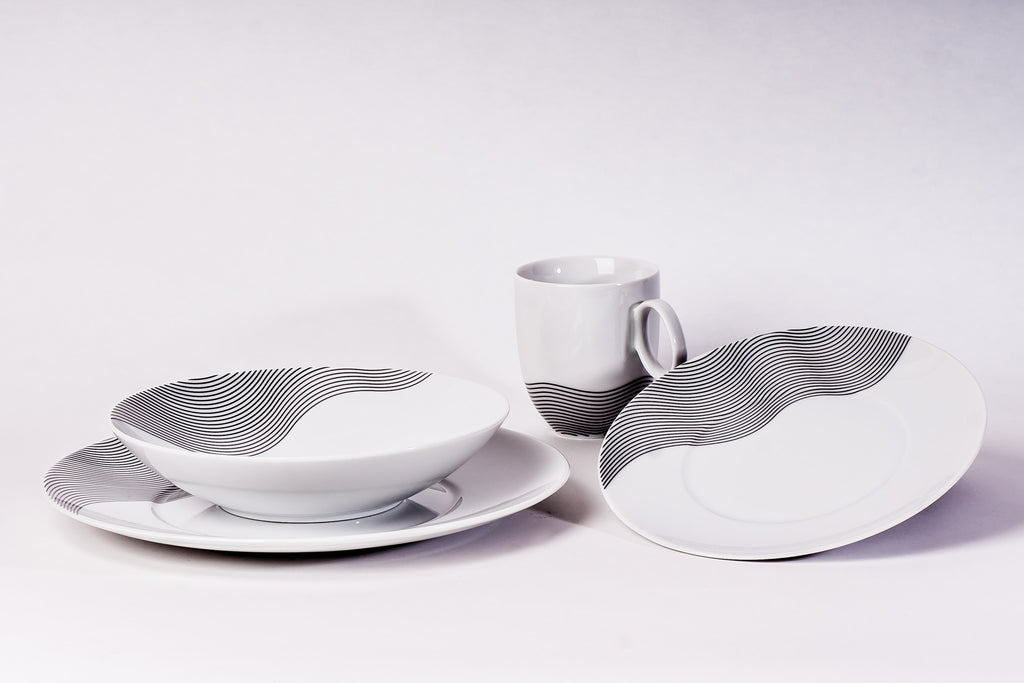 16-Piece Dinner Set | Quebec - Diamond Fine Porcelain