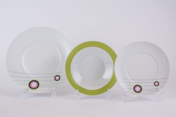 12-Piece Dinner Set | Quebec - Diamond Fine Porcelain - 1