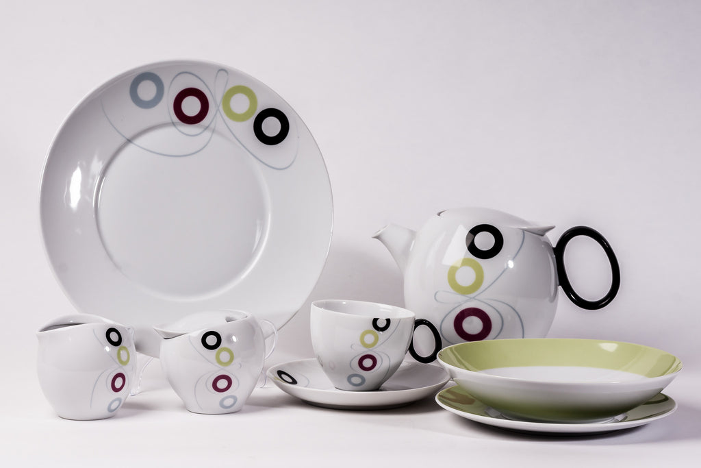 23-Piece Tea & Dinner Set | Quebec - Diamond Fine Porcelain - 2
