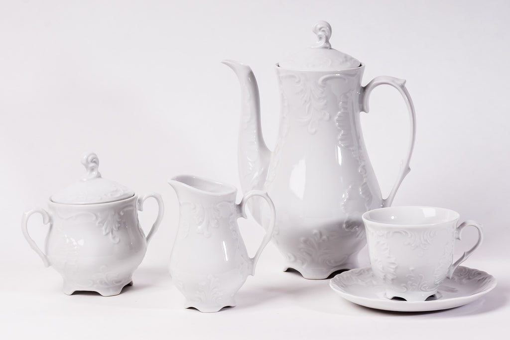 11-Piece Coffee Set | Rococo - Diamond Fine Porcelain - 2