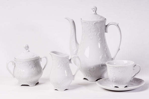 11-Piece Coffee Set | Rococo - Diamond Fine Porcelain - 1