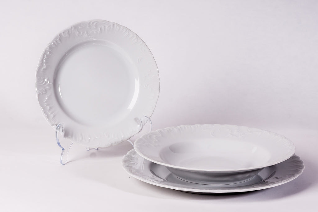 12-Piece Dinner Set | Rococo - Diamond Fine Porcelain