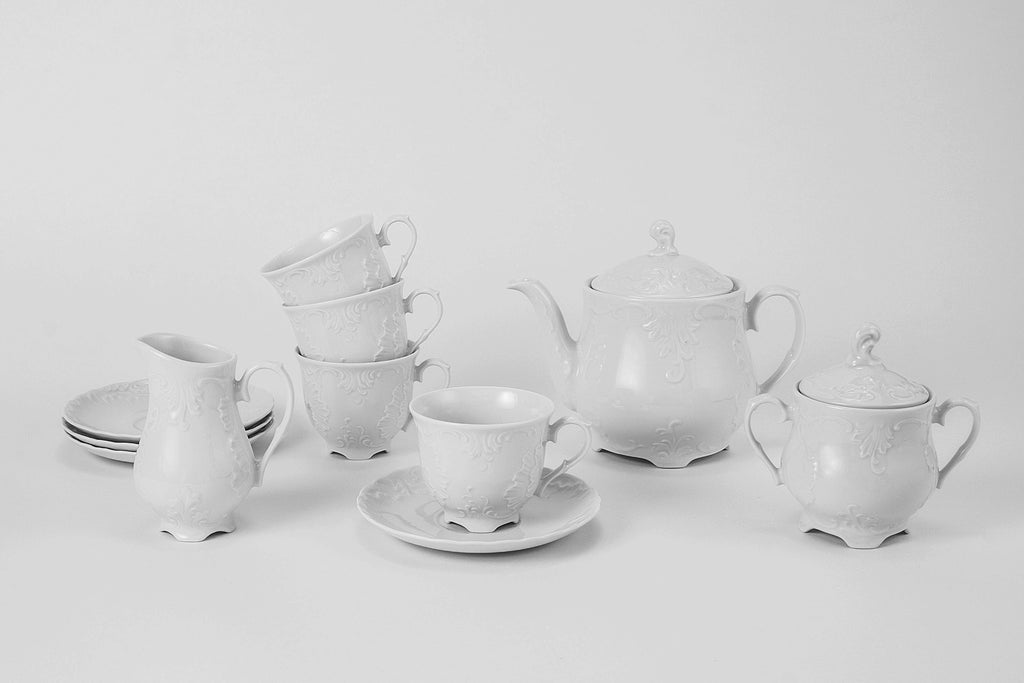 11-Piece Tea Set | Rococo - Diamond Fine Porcelain