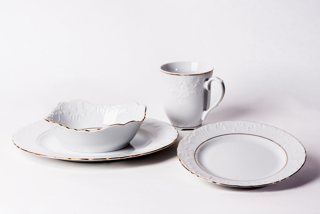 16-Piece Dinner Set | Rococo - Diamond Fine Porcelain