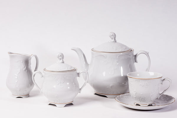 15-Piece Tea Set | Rococo - Diamond Fine Porcelain - 1