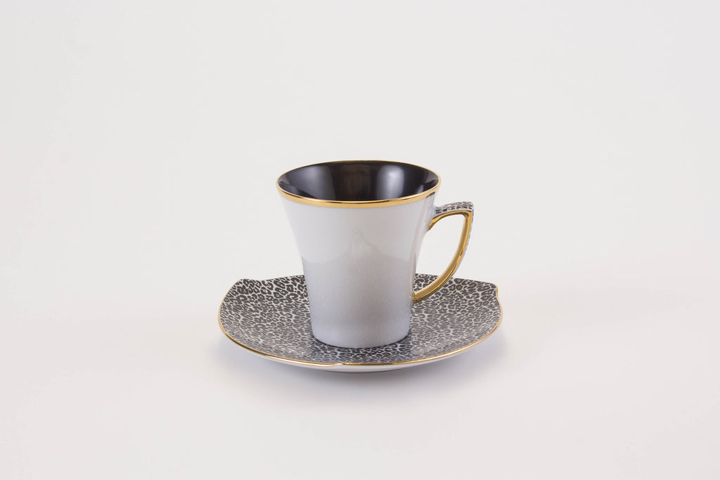 Elegant Cup & Saucer in White | Happa - Diamond Fine Porcelain - 2