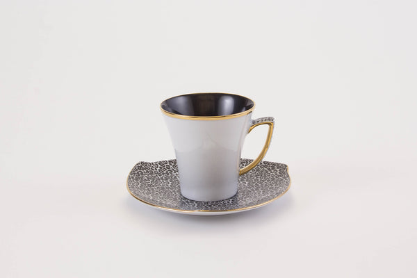 Elegant Cup & Saucer in White | Happa - Diamond Fine Porcelain - 1
