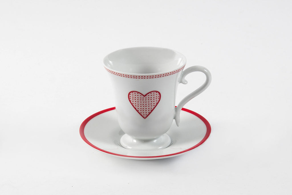 Adorable Cup & Saucer Set - Diamond Fine Porcelain - 1