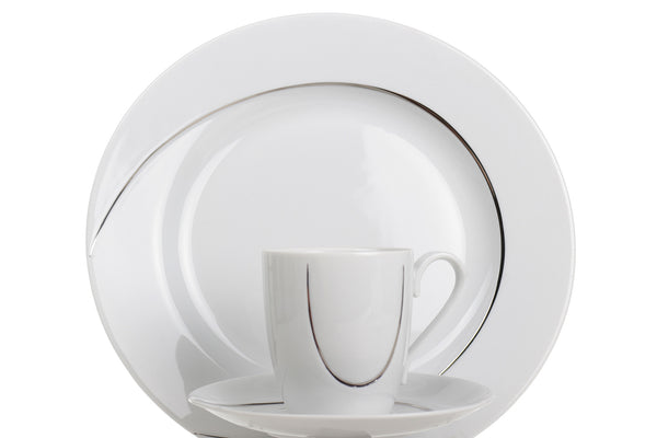 14-Piece Coffee Set | Platinum | Vega - Diamond Fine Porcelain - 1