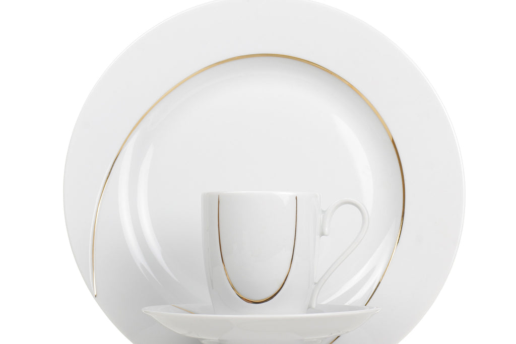 14-Piece Coffee Set | Gold Line | Vega - Diamond Fine Porcelain - 2