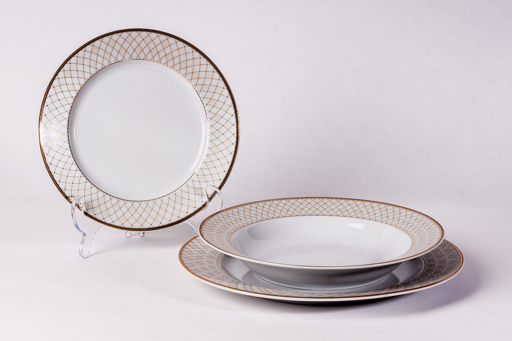 12-Piece Dinner Set | Yvonne - Diamond Fine Porcelain