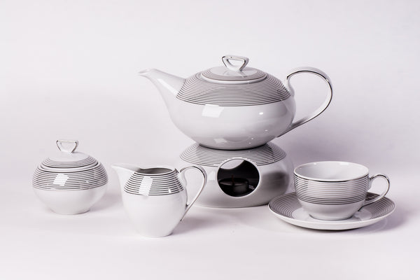 12-Piece Tea Set | Yvonne - Diamond Fine Porcelain