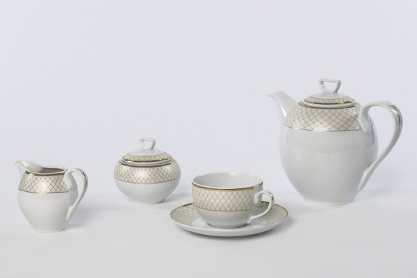11-Piece Coffee Set | Yvonne - Diamond Fine Porcelain