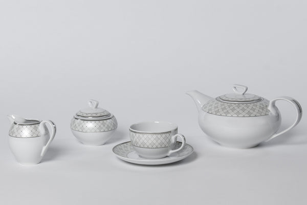 11-Piece Tea Set | Yvonne - Diamond Fine Porcelain