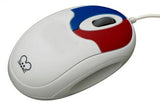 AbleNet Optical Tiny Mouse White-  3 Button Wired Scroll Wheel