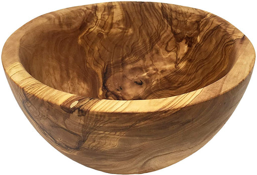Handmade Olive Wood serving bowl for Fruit or Salad Handmade and Hand Carved by Artisans – Dimensions: 20 Diameter x 8.5 (cm) or 7.87 Diameter x 3.34 (Inches); Weight: 550 gr - 1.21 lbs