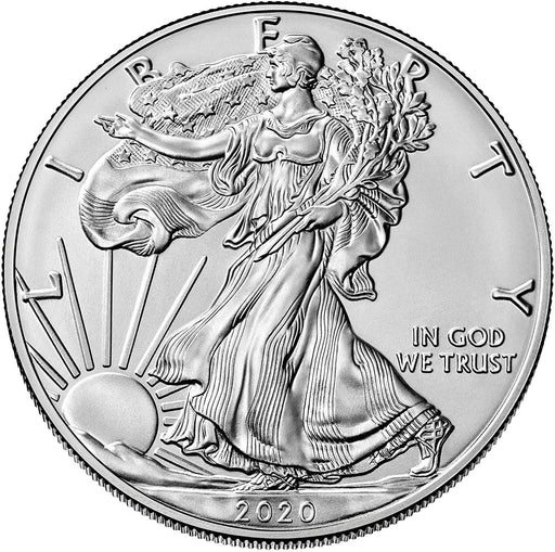2020 1 OZ .999 Silver Eagle Dollar Coin BU, Walking Liberty, Uncirculated by US Mint- Comes with Coin Capsule Holder Sealed Protection