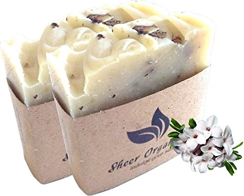 (2 Pack) Sheer Organix Luxury Rejuvenative Handmade Herbal Soap, 3.52 oz. / 100g
