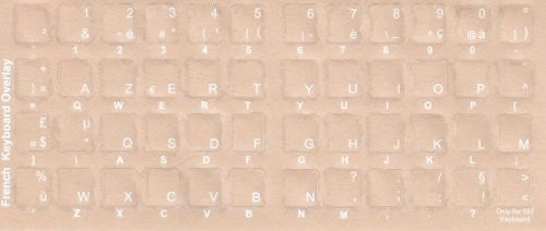 Transparent French Keyboards Stickers